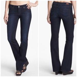 Paige Dark Wash Skyline Bootcut Jeans 28x33